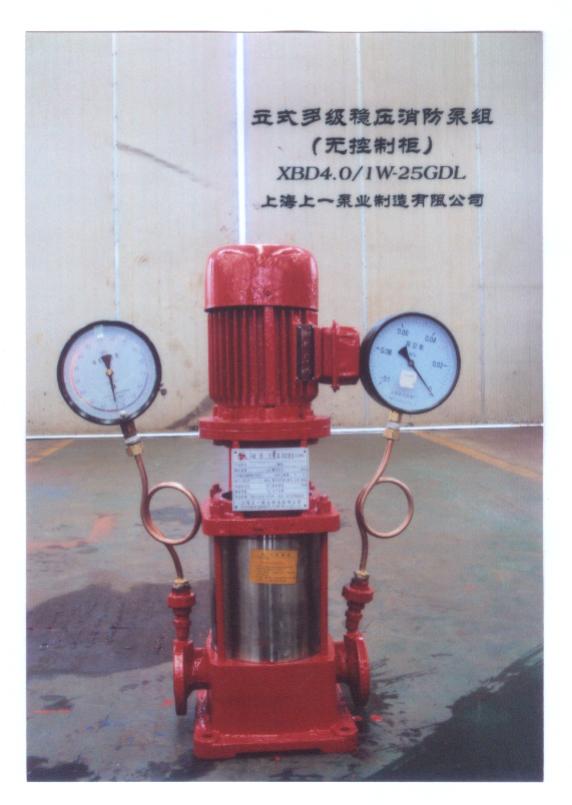 立式多级稳压消防泵组(无控制柜